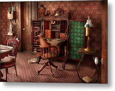 Doctor - Desk - The Physician's Office  Metal Print by Mike Savad
