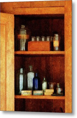 Doctor - Medicine Chest With Asthma Medication Metal Print by Susan Savad