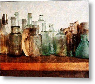 Doctor - Row Of Medicine Bottles Metal Print by Susan Savad
