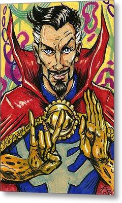 Doctor Strange Metal Print by John Ashton Golden