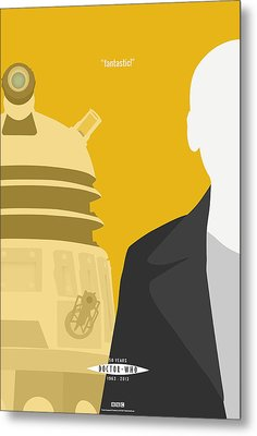 Doctor Who 50th Anniversary Poster Set Nineth Doctor Metal Print by Jeff Bell