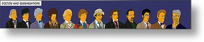 Doctor Who Full 12 Series Metal Print by Donna Huntriss