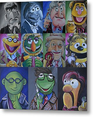 Doctor Who Muppet Mash-up Metal Print by Lisa Leeman