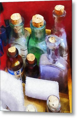 Doctors - Medicine Bottles And Bandages Metal Print by Susan Savad