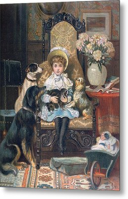 Doddy And Her Pets Metal Print