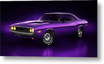 Dodge Challenger Hemi - Shadow Metal Print by Marc Orphanos