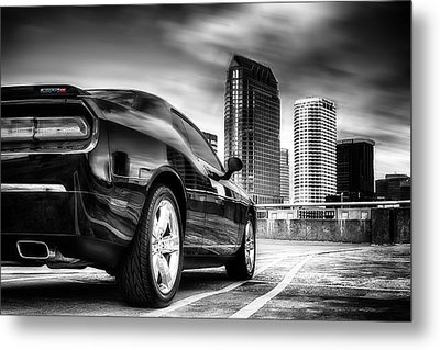 Dodge Challenger Tampa Skyline  Metal Print by Michael White