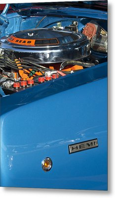 Dodge Coronet 426 Hemi Head Engine Metal Print by Jill Reger