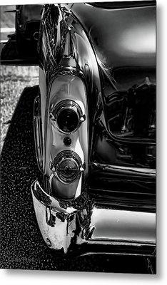 Dodge Royal Lancer Tail Light Art Charcoal Metal Print by Lesa Fine