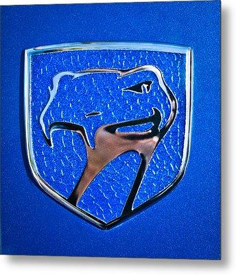 Dodge Viper Emblem -217c Metal Print by Jill Reger