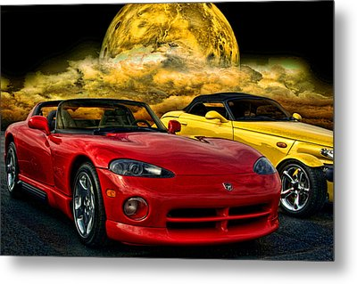 Dodge Viper Zt10 And Plymouth Prowler Metal Print by Tim McCullough