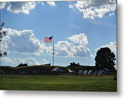 does that Star-Spangled banner yet wave Metal Print