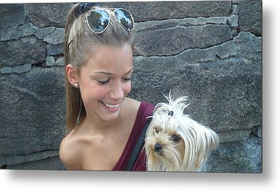 Metal Print featuring the photograph Dog And True Friendship 4 by Teo SITCHET-KANDA