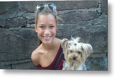 Dog And True Friendship 5 Metal Print