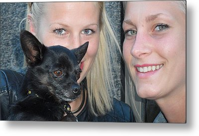 Metal Print featuring the photograph Dog And True Friendship 6 by Teo SITCHET-KANDA
