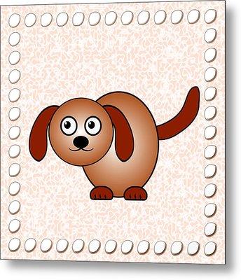Dog - Animals - Art For Kids Metal Print by Anastasiya Malakhova