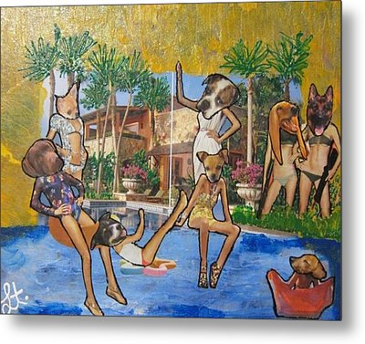 Metal Print featuring the painting Dog Days Of Summer by Lisa Piper