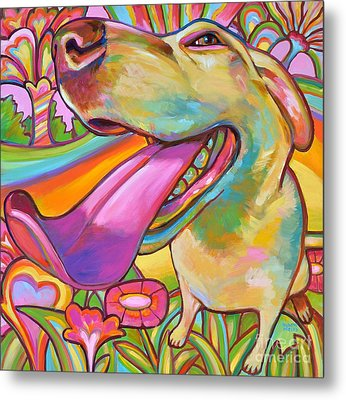 Metal Print featuring the painting Dog Daze Of Summer by Robert Phelps