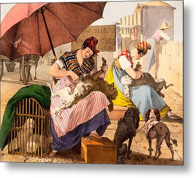 Dog Groomers, 1820 Metal Print by French School