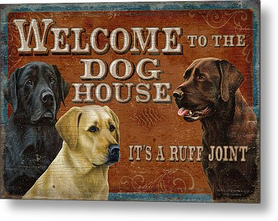 Dog House Metal Print by JQ Licensing