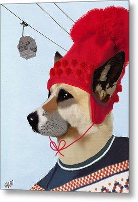 Dog In A Ski Jumper Metal Print by Kelly McLaughlan