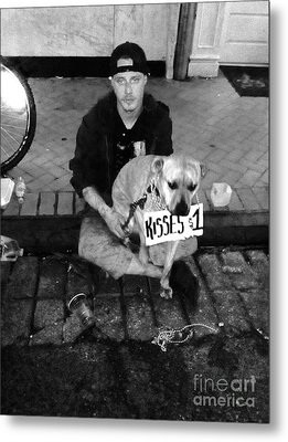 Dog Kisses For A Buck Metal Print by WaLdEmAr BoRrErO