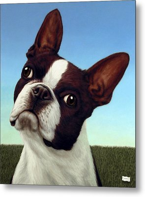 Dog-nature 4 Metal Print by James W Johnson
