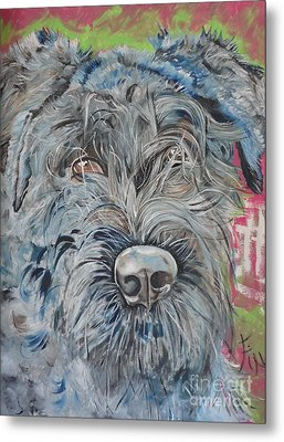 Metal Print featuring the painting Dog Of Flanders The Bouvier by PainterArtist FIN