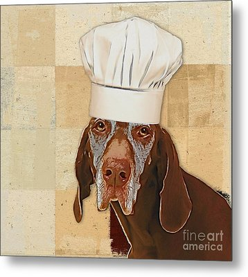 Dog Personalities 56 Chef Metal Print by Variance Collections
