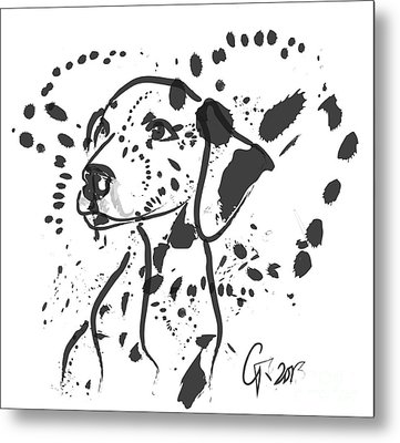 Dog Spot Metal Print by Go Van Kampen
