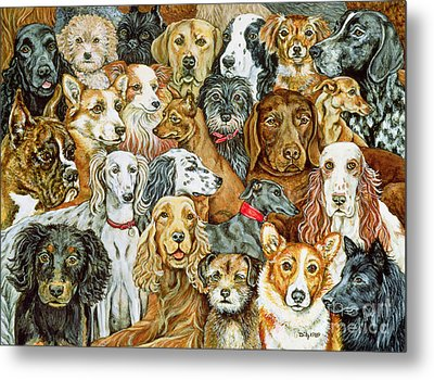 Dog Spread Metal Print by Ditz