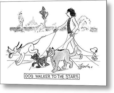 Dog Walker To The Stars Metal Print