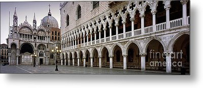 Doge's Palace And Basilica San Marco Metal Print by Rod McLean