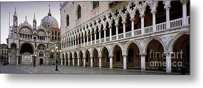 Doge's Palace And Basilica San Marco Metal Print