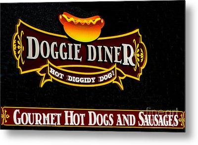 Doggie Diner Metal Print by Mitch Shindelbower