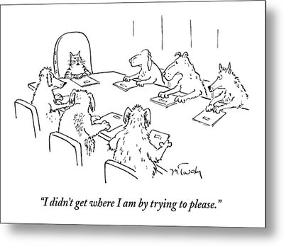Dogs At A Meeting Metal Print