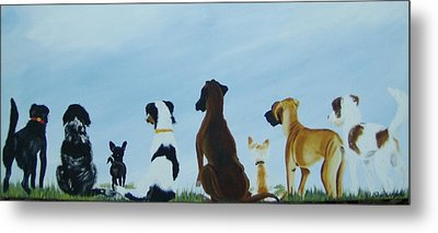 Dogs Looking For Our Forever Home Metal Print