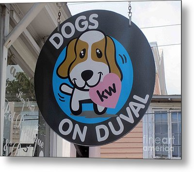 Dogs On Duval Metal Print by Fiona Kennard