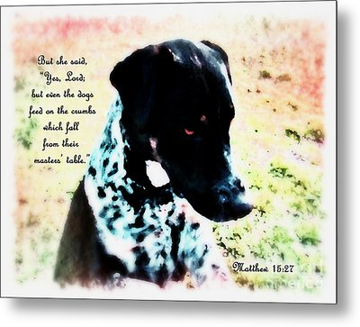 Dogs Rule - Verse Metal Print by Anita Faye