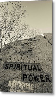 Dogtown Rock With Inspirational Words Metal Print by Panoramic Images
