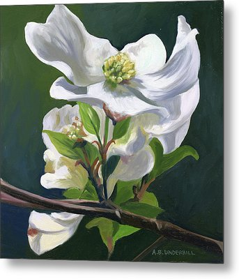 Metal Print featuring the painting Dogwood Blossom by Alecia Underhill