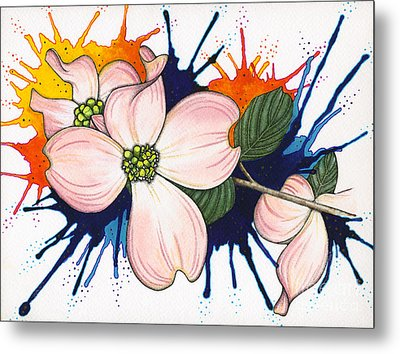 Dogwood Flowers Metal Print by Nora Blansett