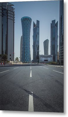 Doha Road Metal Print by Charlie Tash