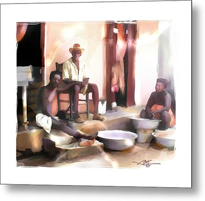 Metal Print featuring the digital art Doing The Laundry by Bob Salo