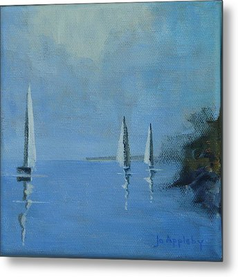 Metal Print featuring the painting Doldrums by Jo Appleby