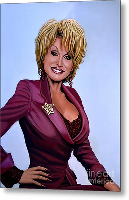 Dolly Parton Metal Print by Paul Meijering