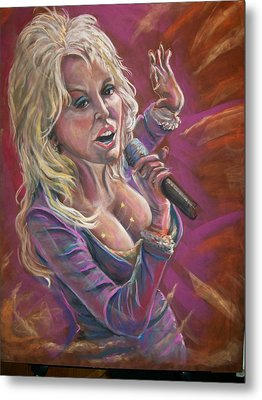 Metal Print featuring the pastel Dolly by Peter Suhocke