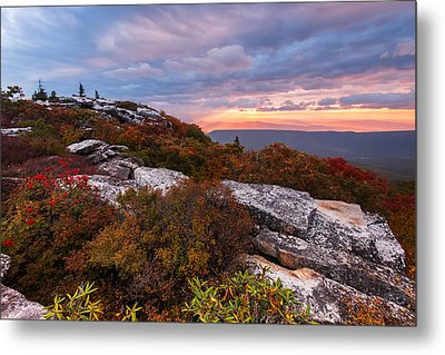 Dolly Sods October Sunrise Metal Print by Joseph Rossbach