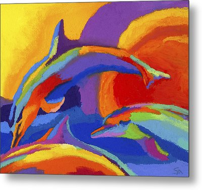 Dolphin Dance Metal Print by Stephen Anderson