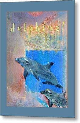 Metal Print featuring the pastel Dolphins by Brooks Garten Hauschild